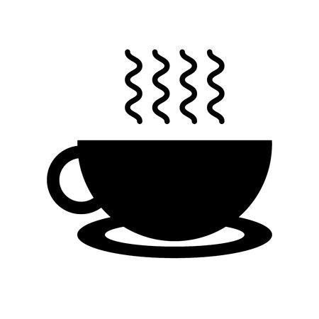 delicious coffee cup flat icon vector illustration design Ilustração