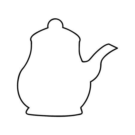 teapot drink isolated icon vector illustration design  イラスト・ベクター素材