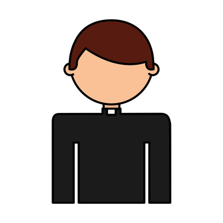 priest man avatar character vector illustration design Stock Illustratie