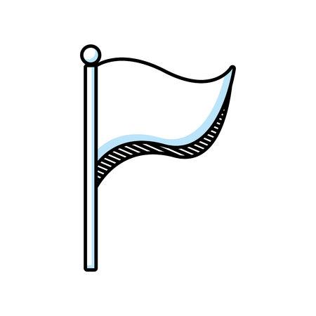 flag location isolated icon vector illustration design Illustration