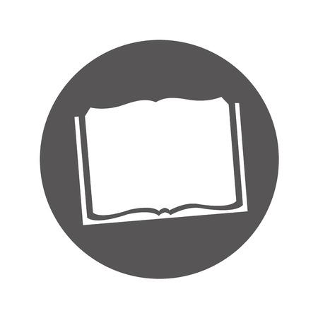 Scuola di libro isolato icona illustrazione vettoriale design