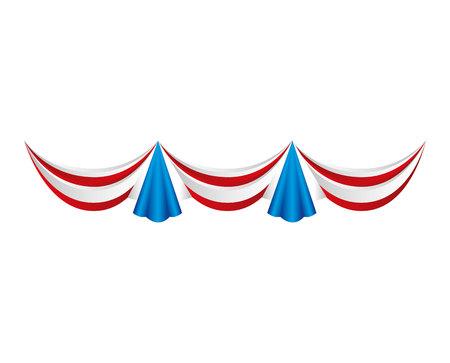 usa garlands celebration isolated vector illustration design Фото со стока - 122711831