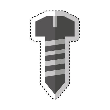 screw metal isolated icon vector illustration design
