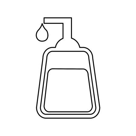 soap bottle spa icon vector illustration design