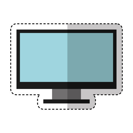 computer desktop isolated icon vector illustration design 向量圖像