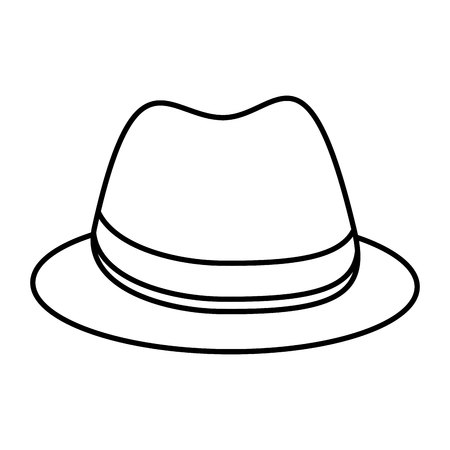 gentleman hat isolated icon vector illustration design Stock Vector - 122711900
