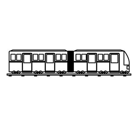 transport tramwajowy ikona na białym tle projekt ilustracji wektorowych Ilustracje wektorowe