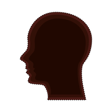 head human profile isolated icon vector illustration design