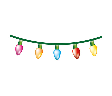 christmas lights decoration isolated icon vector illustration design Иллюстрация
