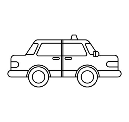 taxi service public icon vector illustration design