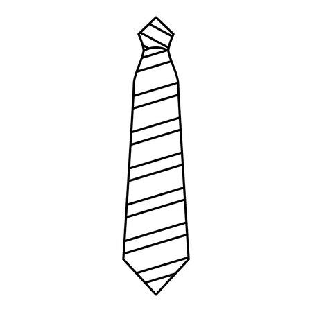 elegant tie isolated icon vector illustration design Ilustração Vetorial