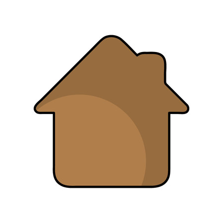 house silhouette isolated icon vector illustration design 스톡 콘텐츠 - 122711969