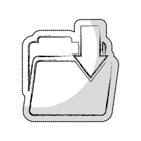 folder with arrow download vector illustration design Illustration