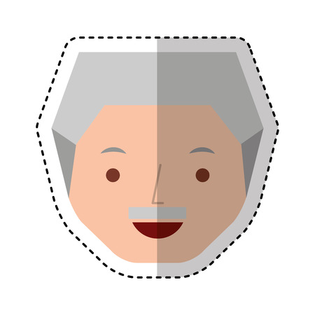 old man avatar character vector illustration design Illustration