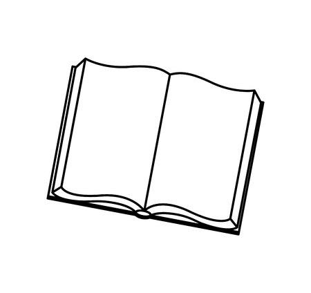 Buchschule isoliert Ikone Vektor-Illustration Design Vektorgrafik