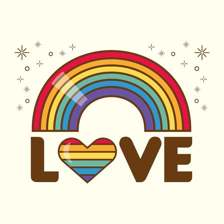 rainbow fantasy icon on white background vector illustration Stok Fotoğraf - 122712043