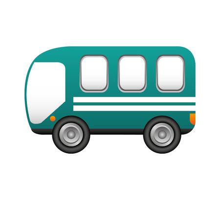 Diseño de ilustración de vector de icono de servicio de transporte de autobús
