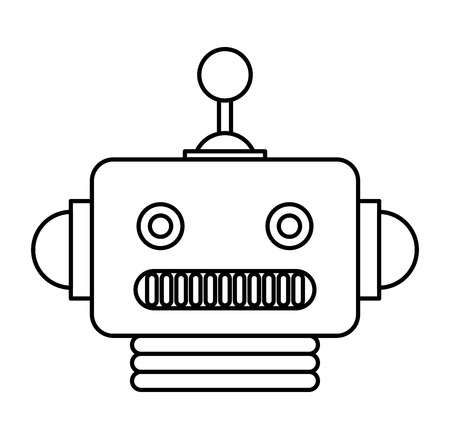 electric robot avatar character vector illustration design Foto de archivo - 122712130