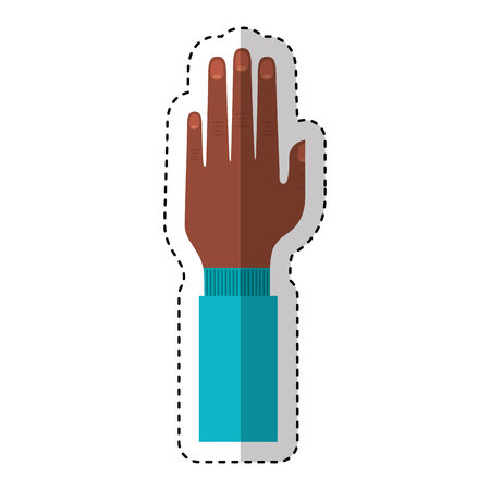 hand human up isolated icon vector illustration design