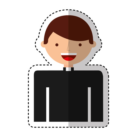 priest man avatar character vector illustration design
