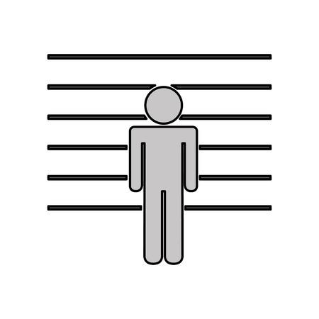 prisoner avatar silhouette icon vector illustration design