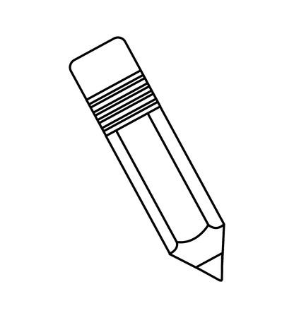pencil school supply isolated icon vector illustration design Illustration