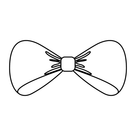 bowtie elegant isolated icon vector illustration design
