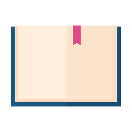 open book isolated icon vector illustration design