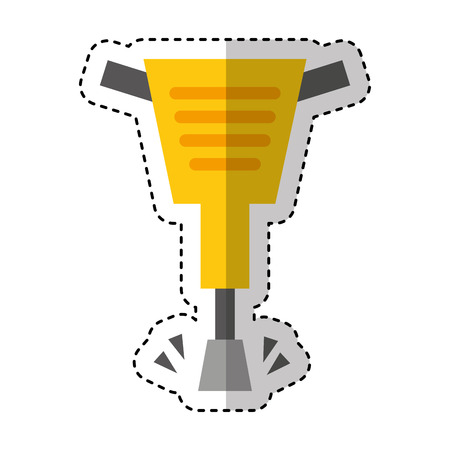 pneumatic hammer tool isolated icon vector illustration design Stock Illustratie