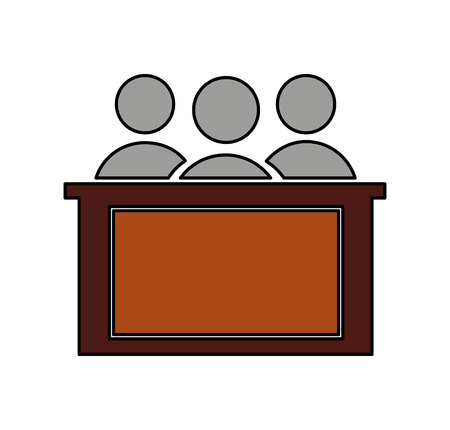 jury silhouette isolated icon vector illustration design Reklamní fotografie - 122712214