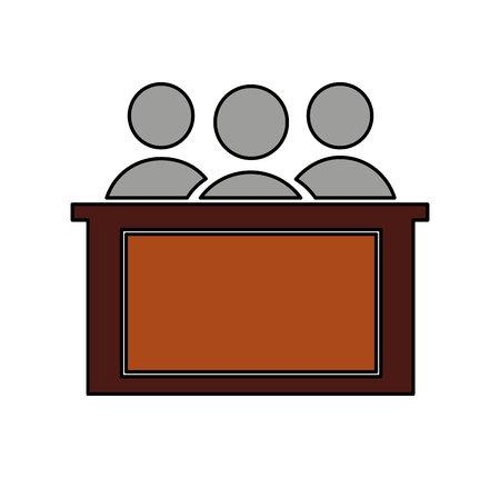 jury silhouette isolated icon vector illustration design