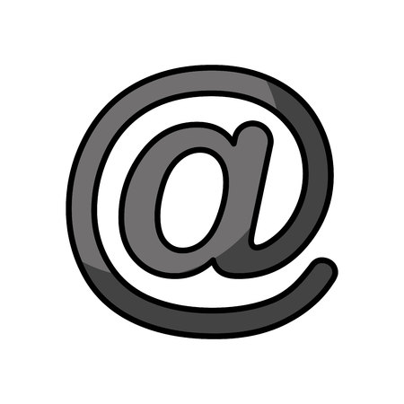 arroba social media icon vector illustration design  イラスト・ベクター素材