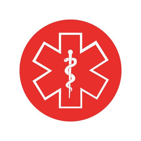 kaduceusz symbol na białym tle ikona wektor ilustracja projekt Ilustracje wektorowe