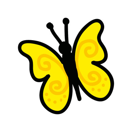 cute butterfly drawing icon vector illustration design