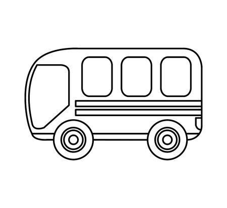 Diseño de ilustración de vector de icono de servicio de transporte de autobús Ilustración de vector