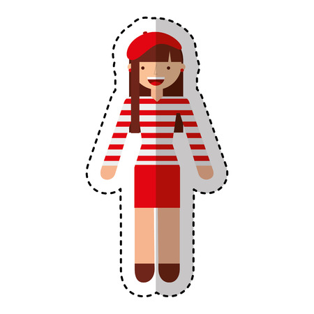 french woman avatar character vector illustration design Ilustrace