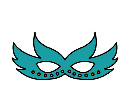 party mask isolated icon vector illustration design Banco de Imagens - 121899069