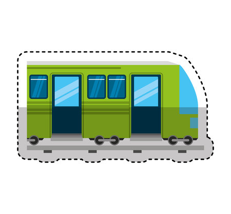 tram transport isolated icon vector illustration design Zdjęcie Seryjne - 122637553