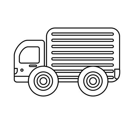 truck vehicle delivery service vector illustration design Stockfoto - 122637559