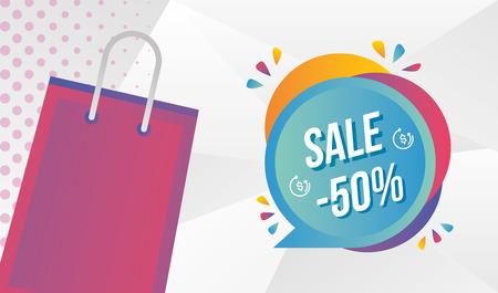 Super venta de ilustración de vector de insignia de mercado de promoción especial Ilustración de vector