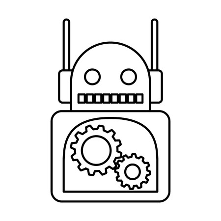 electric robot avatar character vector illustration design 写真素材 - 122637592