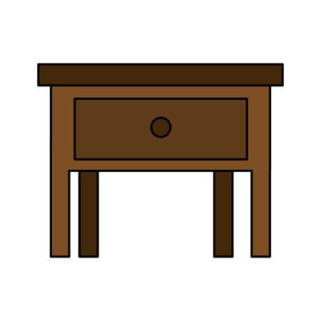 Nachttisch aus Holz isoliert Symbol Vektor Illustration Design Vektorgrafik