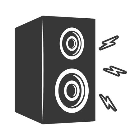 Ilustración de vector de icono de volumen de música de sonido de altavoz