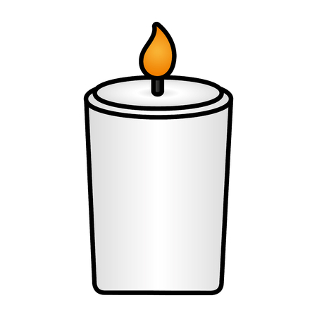 burning candle flame on white background vector illustration design Çizim