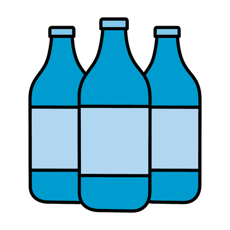 water bottles icon on with background vector illustration