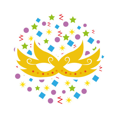 party mask isolated icon vector illustration design Banco de Imagens - 122637930