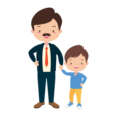 dad and son - fathers day vector illustration design Stock Vector - 122637961