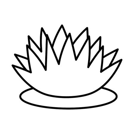 lotus flower leaf decoration on white background vector illustration design