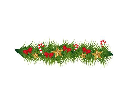 Couronne de Noël décoration icône vector illustration design Vecteurs