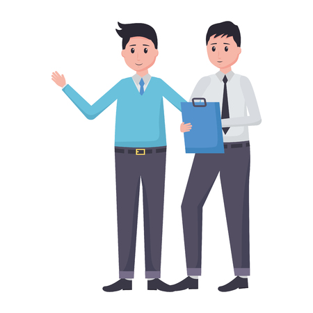 men employee character office vector illustration design